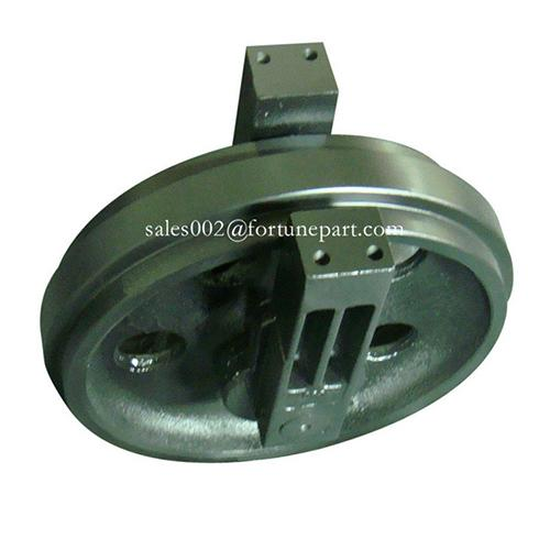 Tractor guide idler wheel